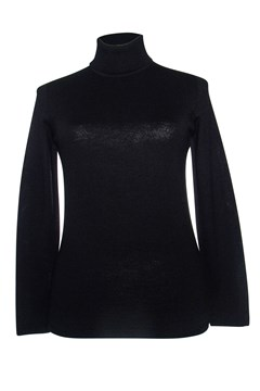 Long Sleeve Classic Polo Neck Jumper - black