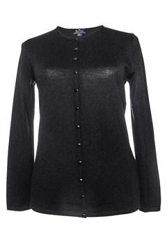 Long Sleeve Classic Button Cardigan BLACK 1