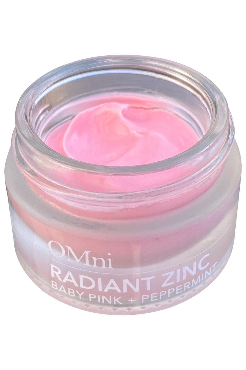 Radiant Zinc, 100% natural multi-use lip balm - baby pink