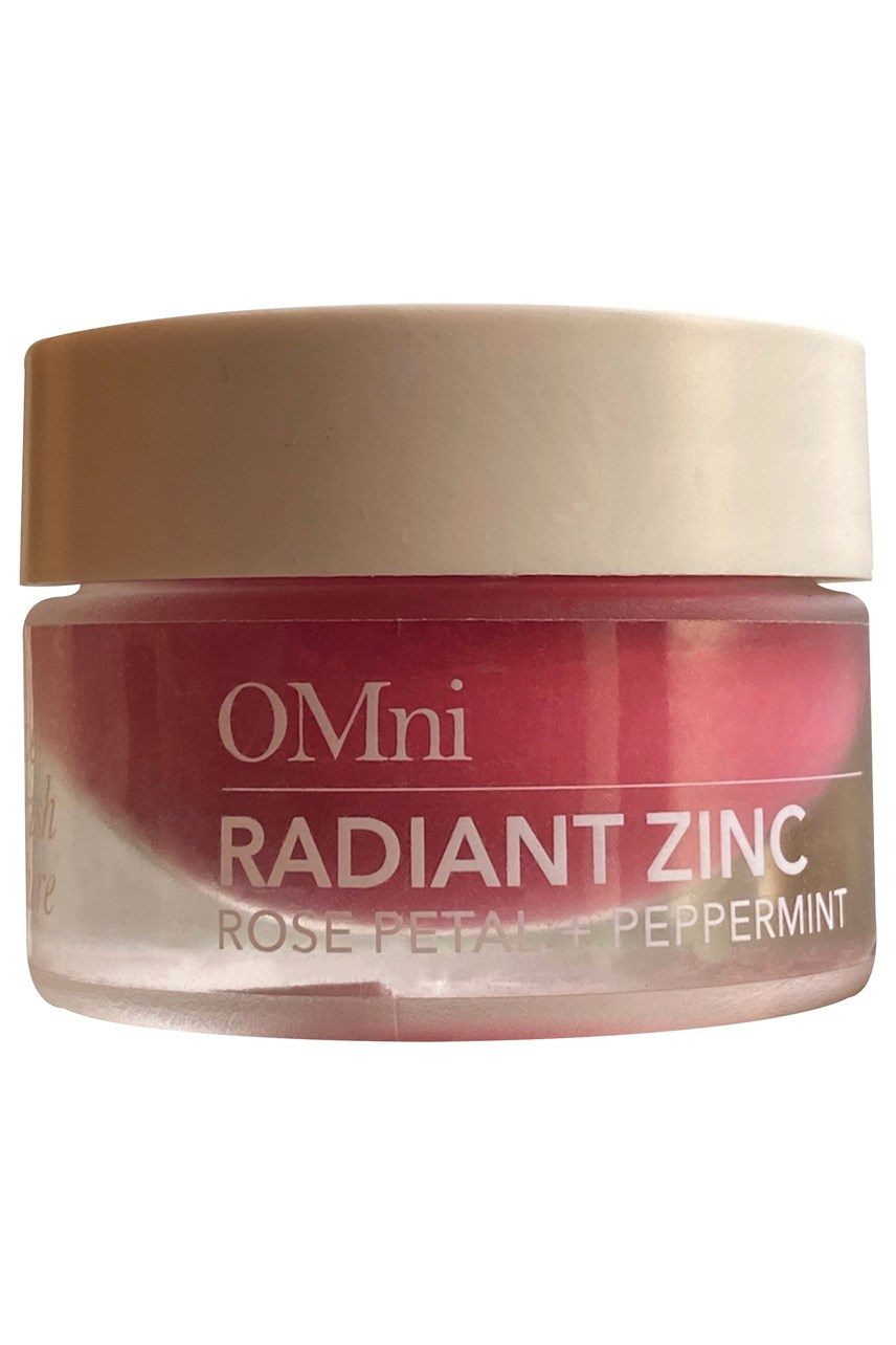 Radiant Zinc, 100% natural multi-use lip balm - rose petal