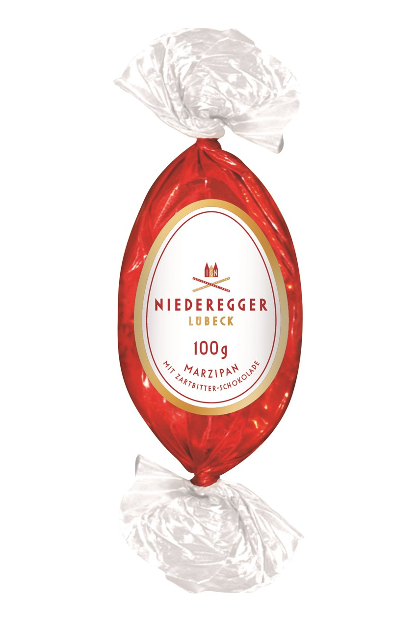 Bittersweet Chocolate Marzipan Easter Egg - 100g