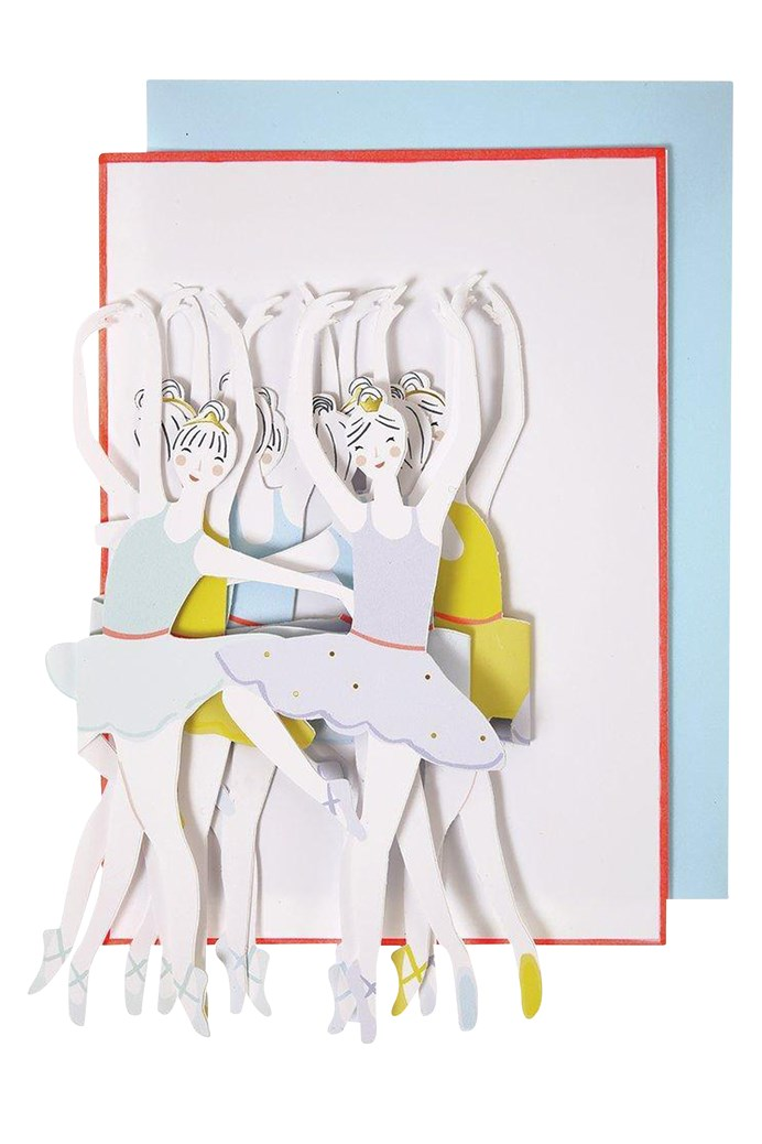 Ballet Dancers Concertina Card