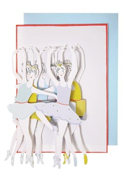 Ballet Dancers Concertina Card 1