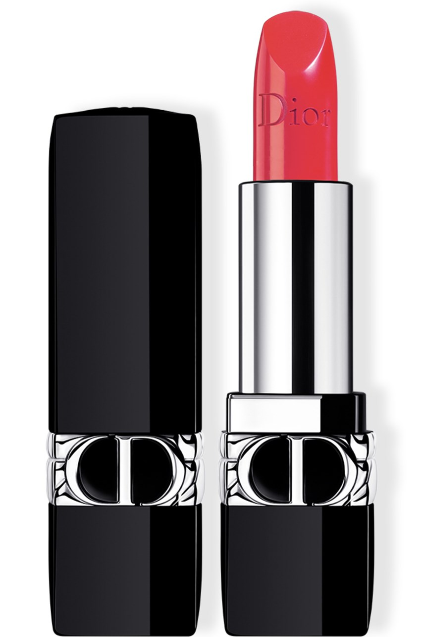 Dior | Rouge Dior | Rouge Dior Couture colour refillable lipstick - 4 finishes: satin, matte, metallic and velvet - floral lip care - comfort and long wear