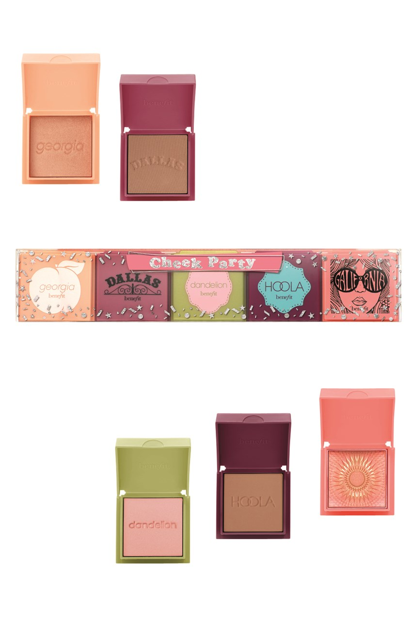 Cheek Party 5 mini blushes and bronzer