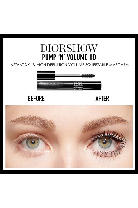 DIOR | Diorshow | Diorshow Pump 'N' Volume HD Squeezable Mascara Instant XXL Volume - Lash-Multiplying Effect - 255 blue pump