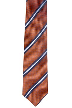 Diagonal Stripe Silk Tie ORANGE 1