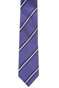 Diagonal Stripe Silk Tie PURPLE 1