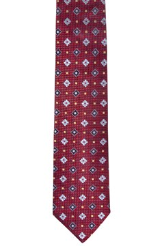 Floral Dot Silk Tie RED 1