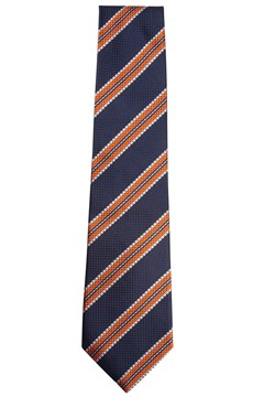 Orange Stripe Tie 029 1