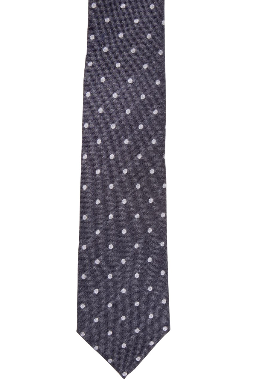 Charcoal With Spot Tie