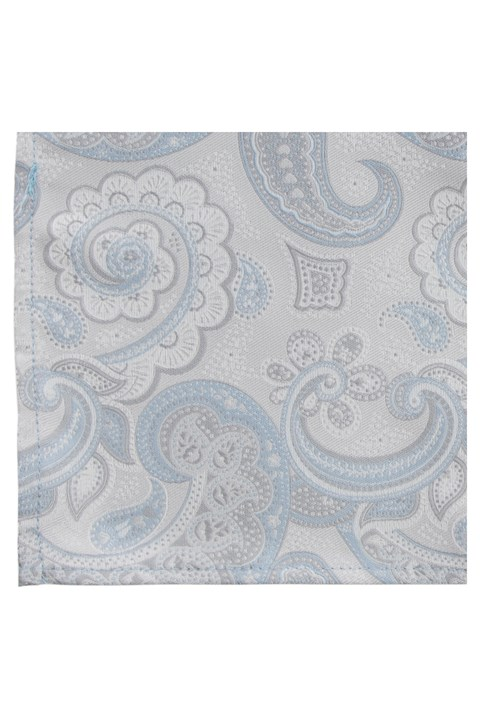 Luxe Paisley Pocket Squares - sky (220)