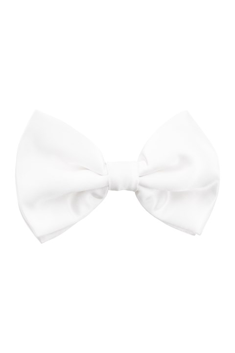 Maxims Pure Silk Bow Tie - white (90)