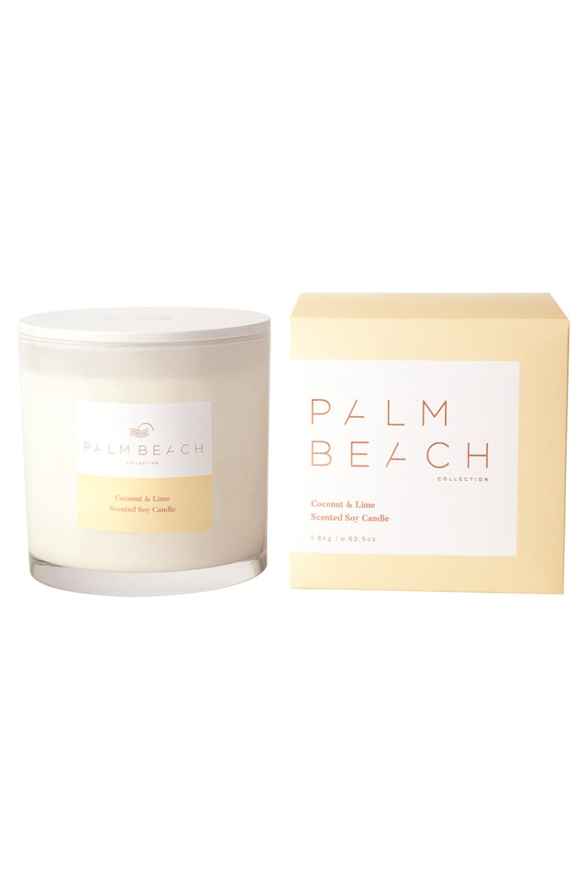 Coconut & Lime Scented Delux Soy Candle