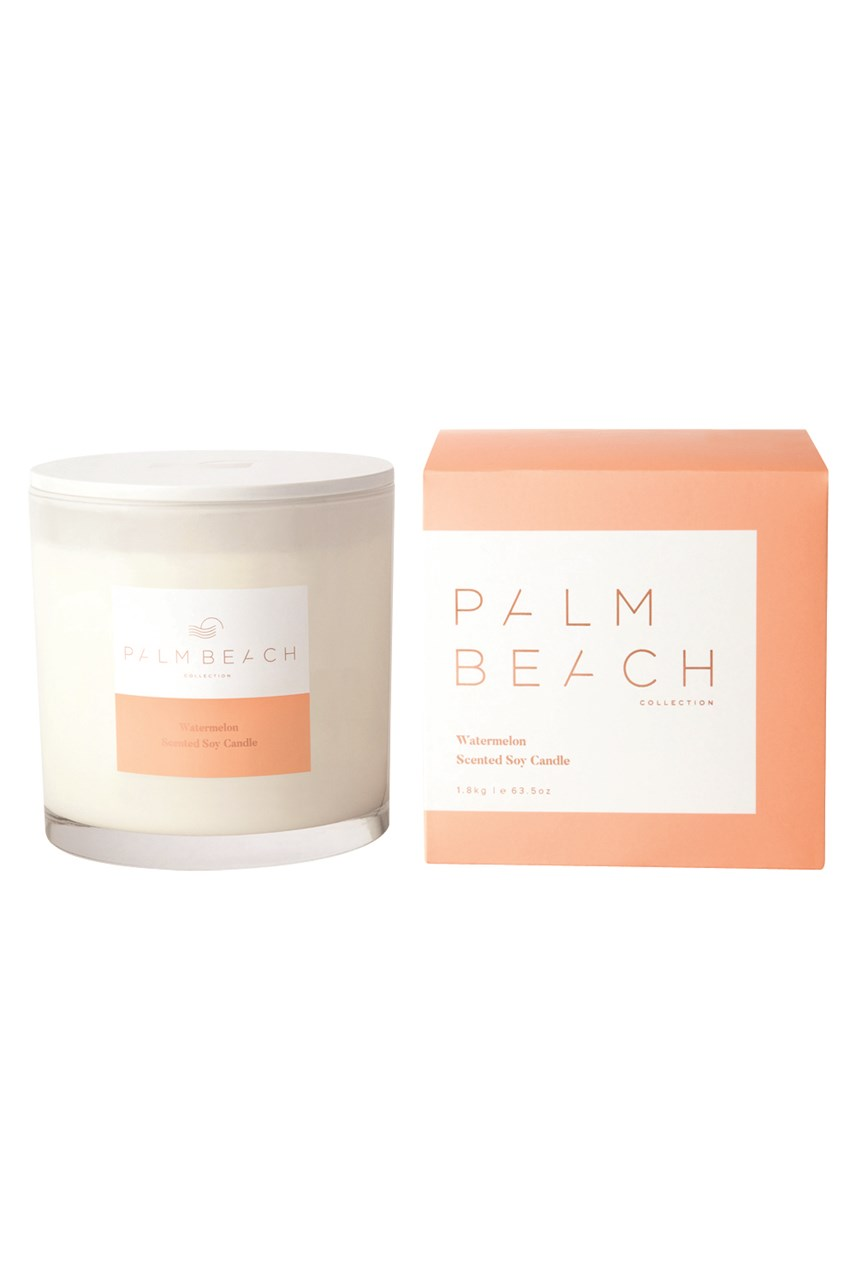 Watermelon Scented Delux Soy Candle