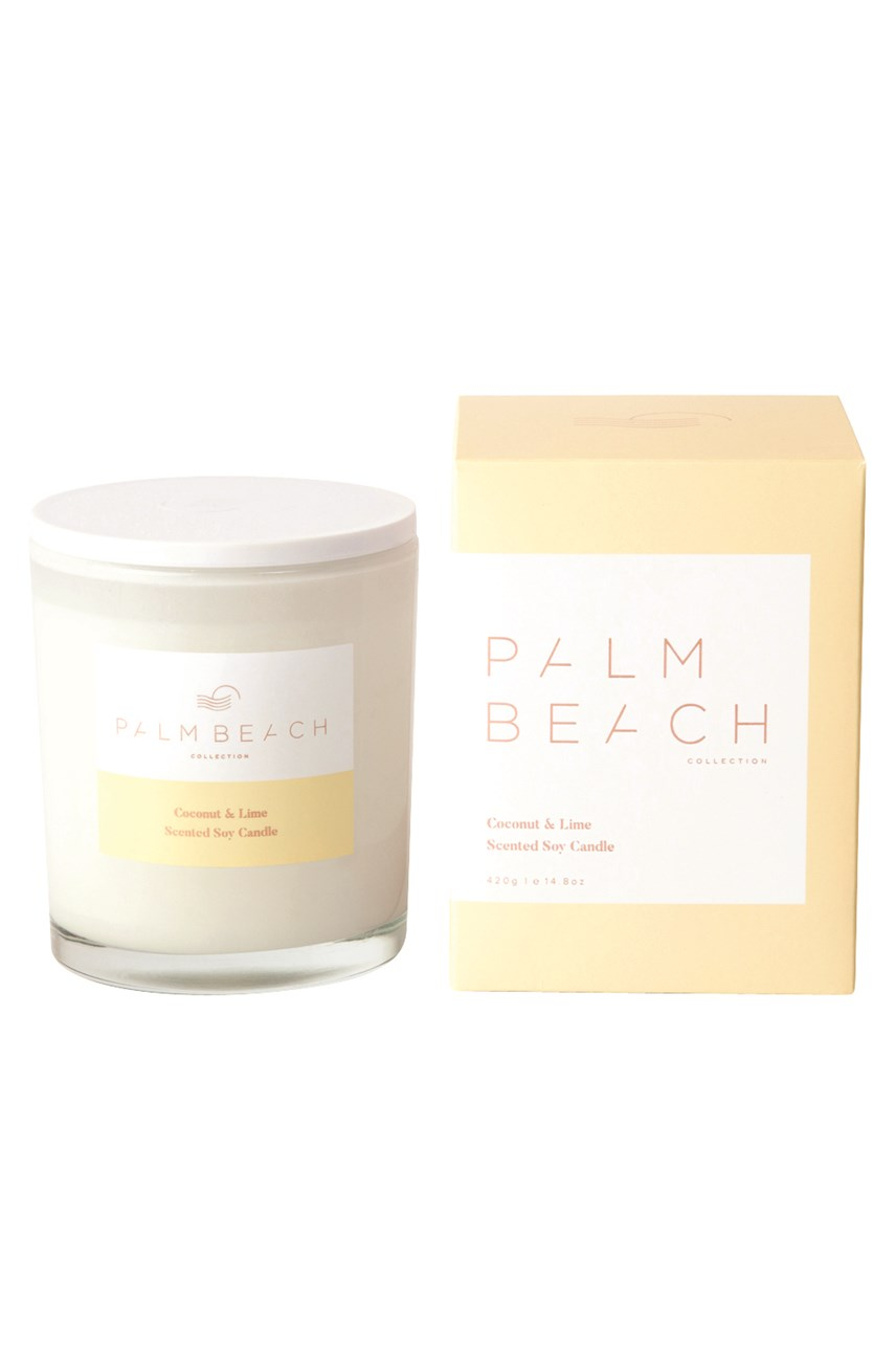 Coconut & Lime Scented Soy Standard Candle