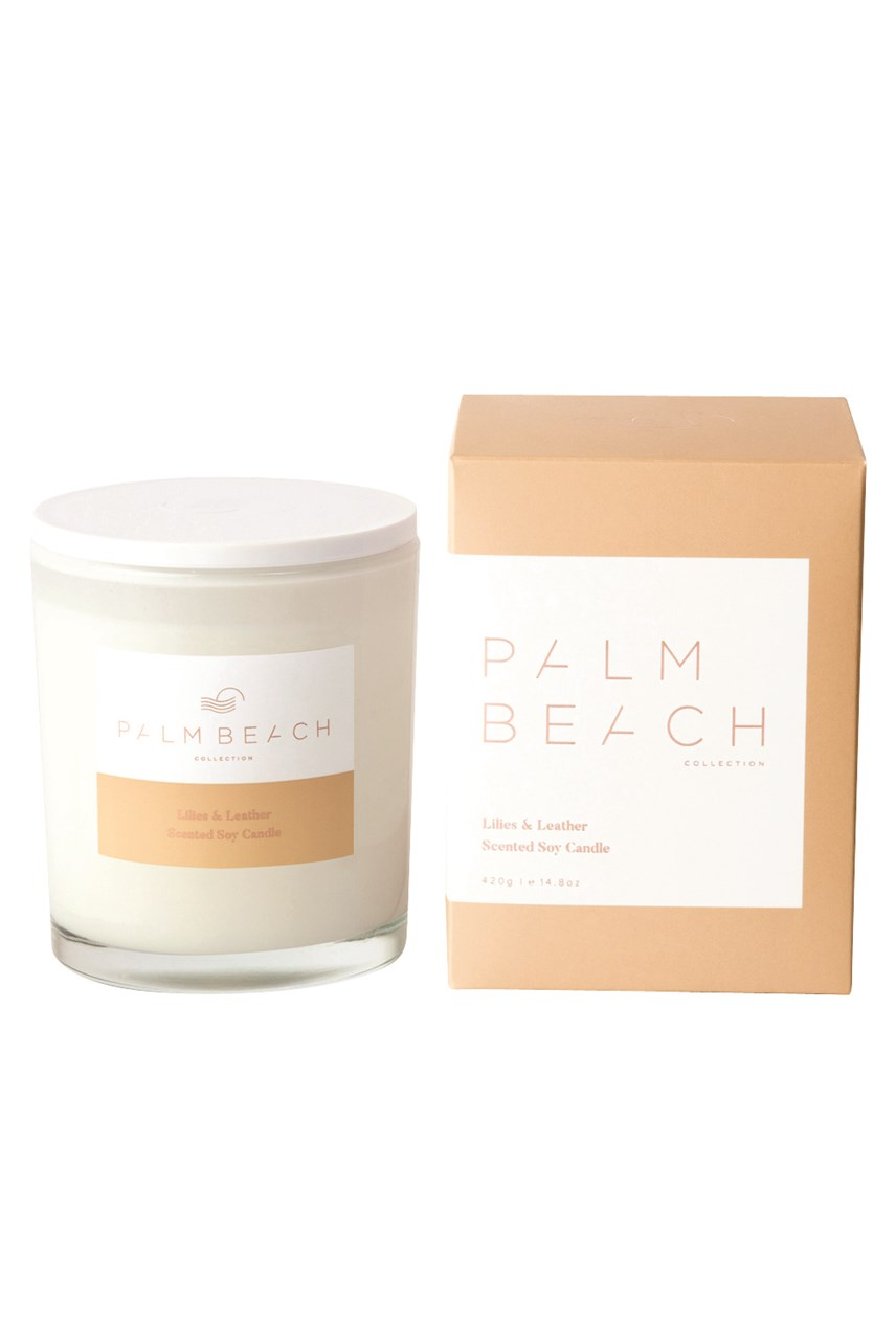 Lilies & Leather Scented Soy Standard Candle