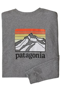 Long Sleeve Line Logo Ridge Responsibili-Tee - glh gravel heather