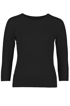 Cotton Crew Sweater BLACK 1