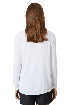 Curved Jumper - white