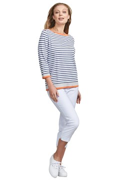 Striped Tee WHT CHAR TRO 1