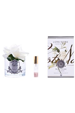 Perfumed Single Rose in Clear Glass IVORY WHITE 1