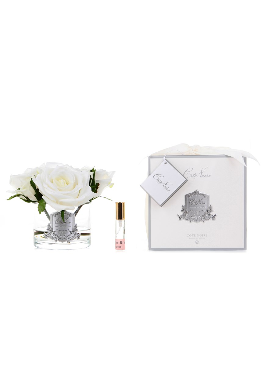 Perfumed 5 Roses in Clear Glass