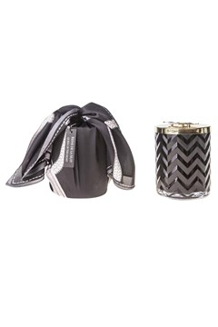 Black Herringbone Candle With Scarf BLACK 1