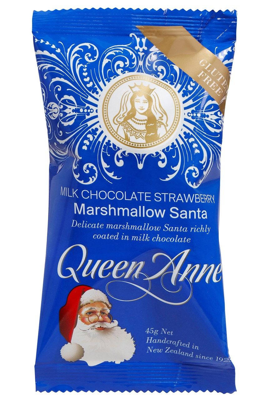Single Serve Milk Chocolate Strawberry Marshmallow Santa