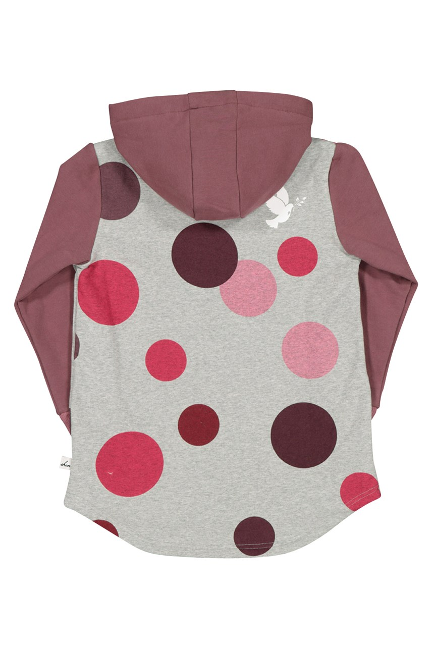 Winter Berry Polka Dot Hood