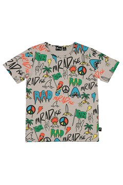 Beached Graffiti Tee - grey multi
