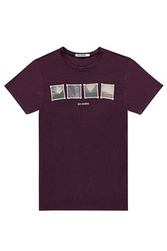 Brighton Winter Tee BERRY 1