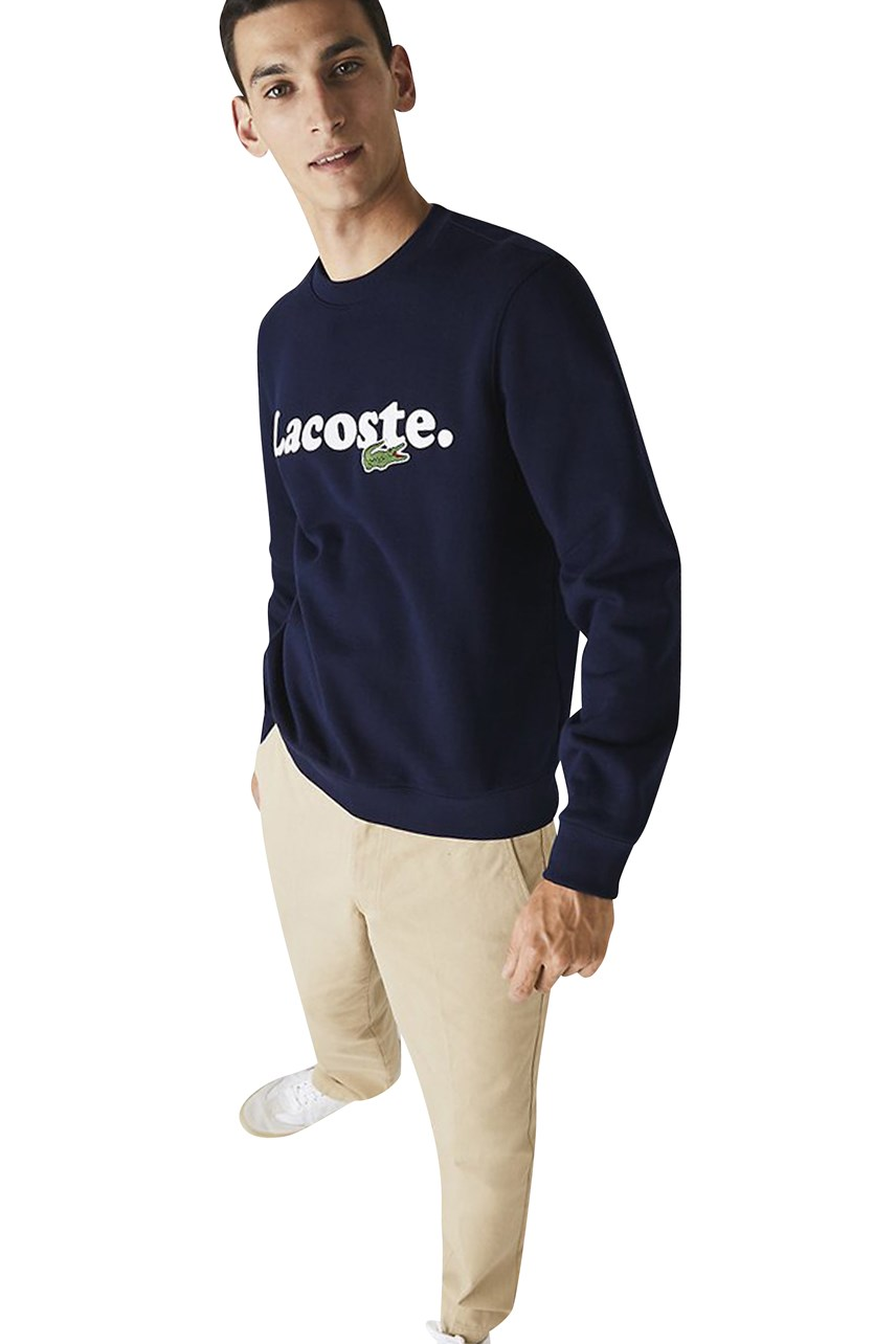 Lacoste And Crocodile Crew Neck Sweatshirt