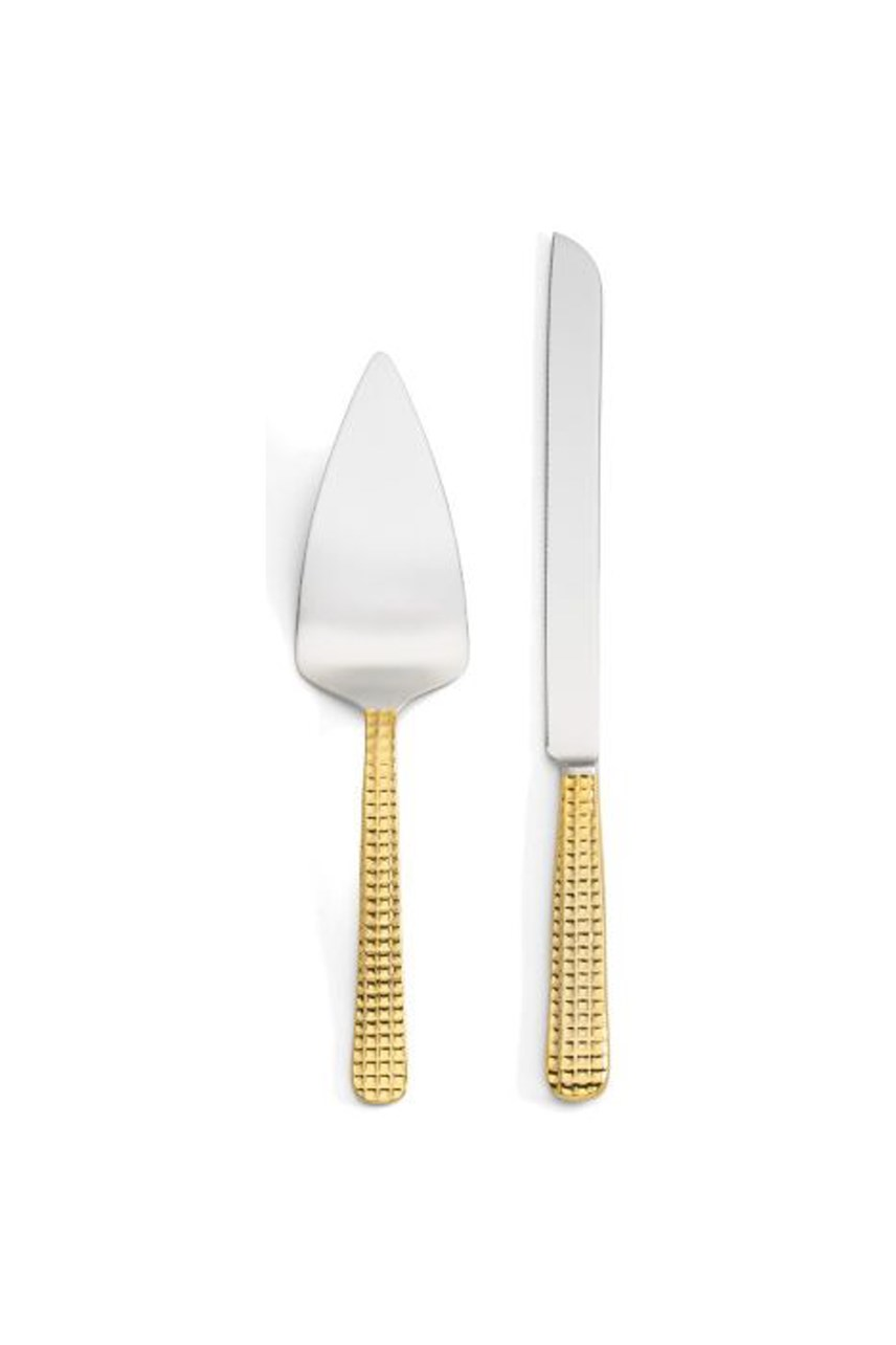 Manhattan Gold Cake Knife & Server