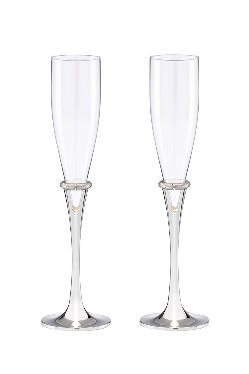 'Devotion' Toasting Flute Pair