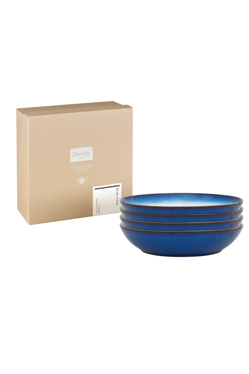 Blue Haze Coupe Pasta Bowl - Set of 4