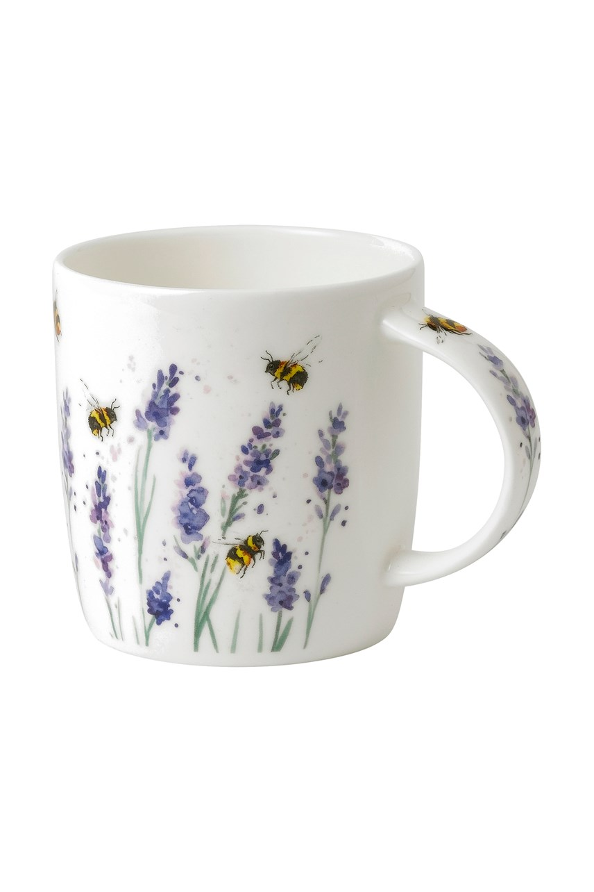 Bees With Lavender Mug