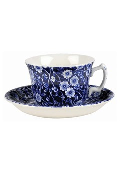 'Blue Calico' Tea Saucer BLUE 1