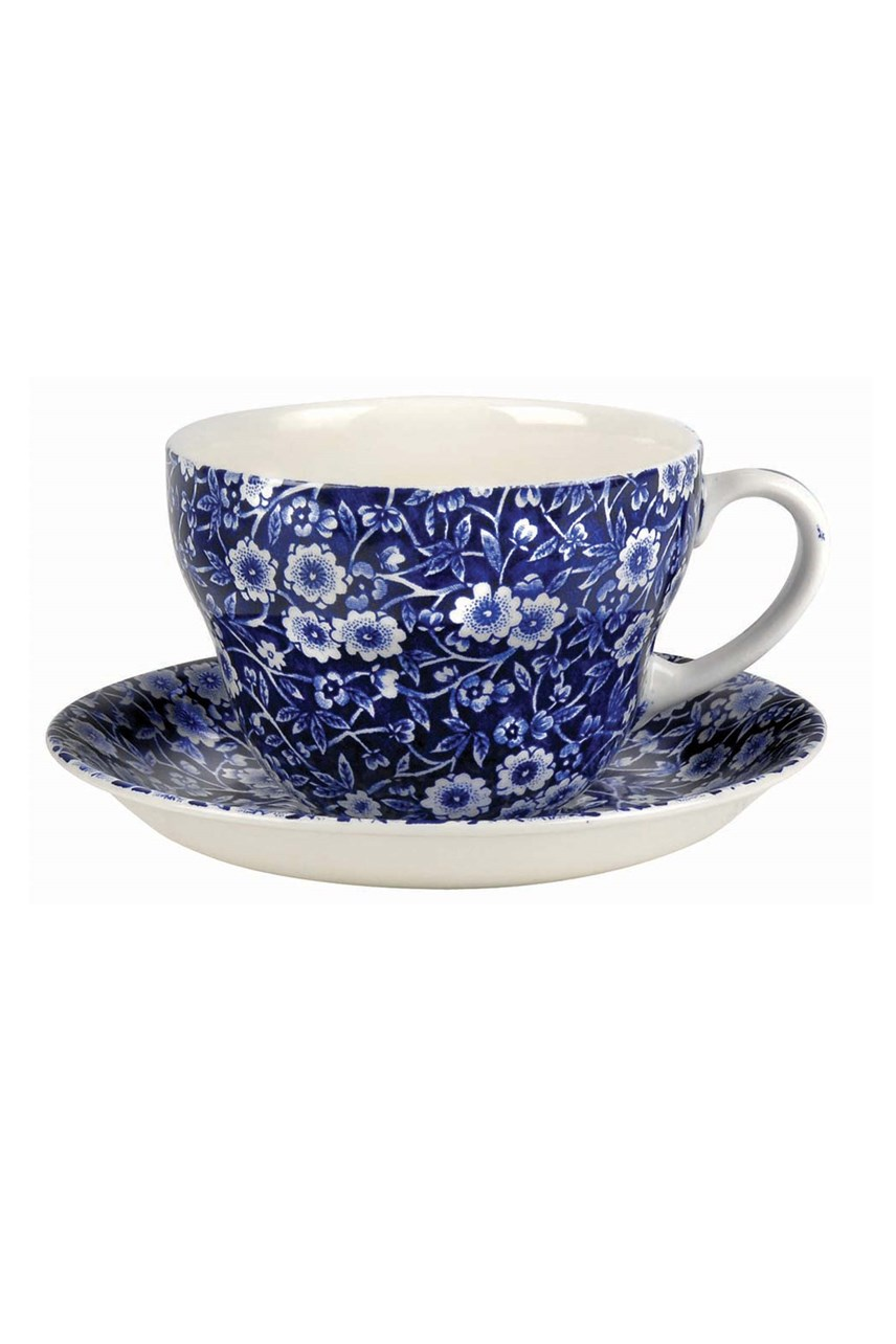 'Blue Calico' Breakfast Cup