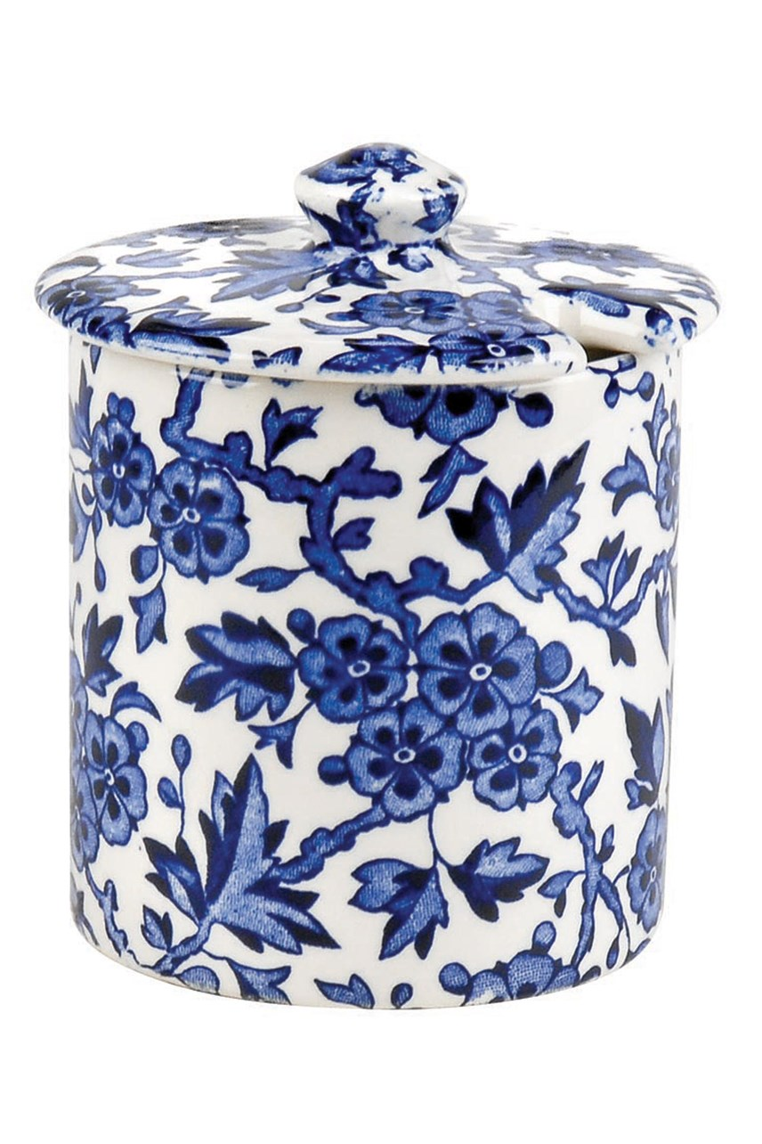 'Blue Arden' Covered Jam Jar