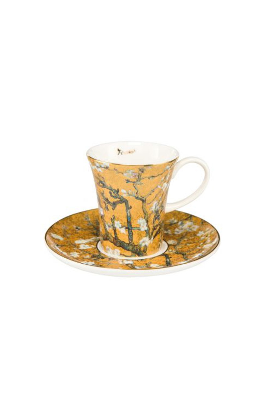 Almond Tree Gold Cup & Saucer