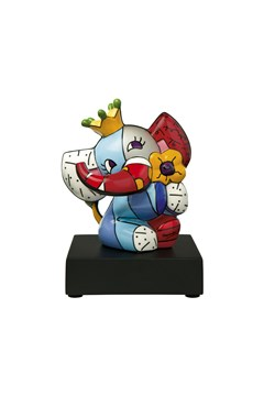 Britto Pop Art Spring Elephant Vase 1