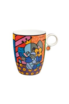 Britto Pop Art Spring Elephant Mug 1