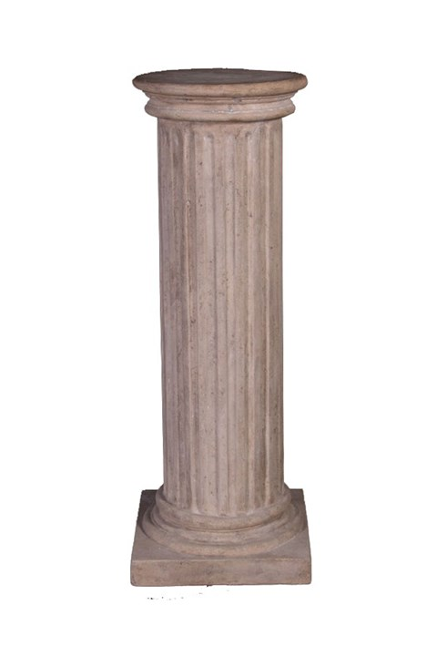 Fluted Column with Round Top -