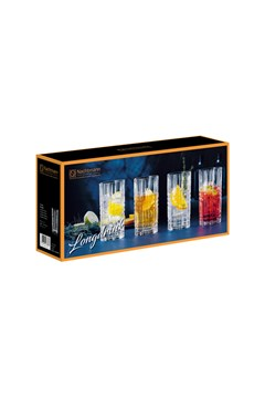 Square Long Drink Tumbler Set -