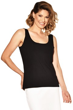 Easy Fit Singlet BLACK 1