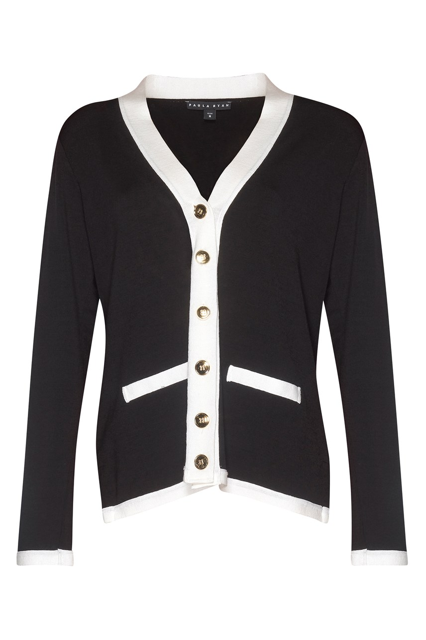 Classic Banded Cardigan