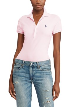 Slim Fit Stretch Polo Shirt PINK 1