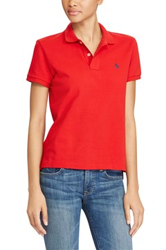 Slim Fit Stretch Polo Shirt RED 1