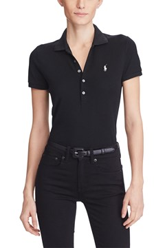 Slim Fit Stretch Polo Shirt BLACK 1